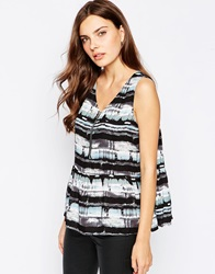 Minimum City Print Sleeveless Top 707Aquasky