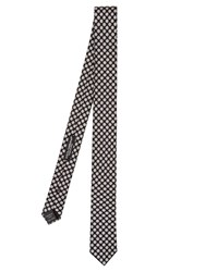 Dolce And Gabbana Circle Print Silk Tie Black Multi