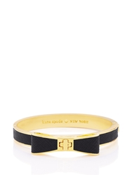 Kate Spade Perfectly Placed Hinged Leather Bow Bangle Black