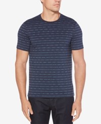 Perry Ellis Striped Cotton T Shirt Ink