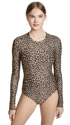 Cover Long Sleeve Swimsuit Leopard