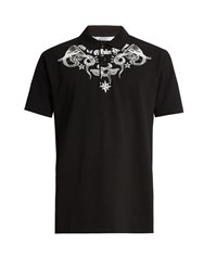 Givenchy Columbian Fit Tattoo Print Polo Shirt Black