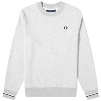 Fred Perry Authentic Tipped Cuff Crew Sweat Grey