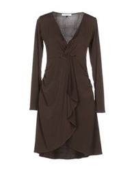 Angela Mele Milano Short Dresses Dark Brown