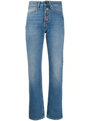 Semicouture High Rise Straight Jeans 60