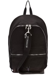 Rick Owens Drkshdw Zipped Backpack Women Cotton One Size Black