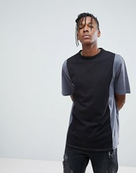 Systvm Panelled T Shirt Black