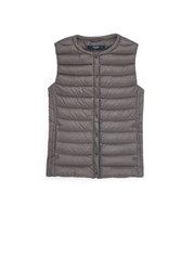Mango Quilted Lightweight Nylon Gilet Dark Grey