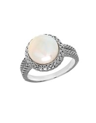 Lord And Taylor 10Mm White Freshwater Pearl Sterling Silver Ring