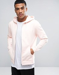 Asos Zip Up Hoodie In Pink Floss