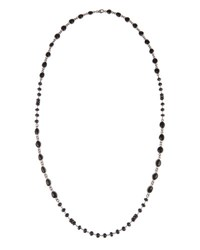 Bavna Black Spinel And Pave Diamond Beaded Rope Necklace