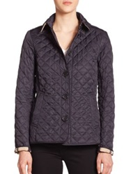 Burberry Ashurst Diamond Quilted Jacket Dark Olive Mushroom Navy Black