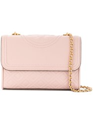 Tory Burch Quilted Foldover Shoulder Bag Pink And Purple