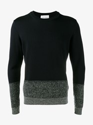 Stephan Schneider Poplars Wool Alpaca Blend Sweater Navy Grey White Black