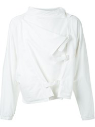 J.W.Anderson J.W. Anderson Draped Front Buckled Jacket White