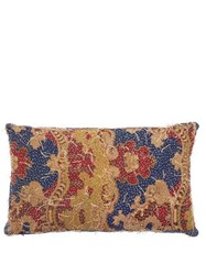By Walid 19Th Century French Aubusson Cushion Blue Multi