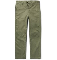 Outerknown Slim Fit Organic Cotton Twill Chinos Army Green