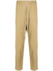 Bassike Drawstring Straight Leg Trousers Brown