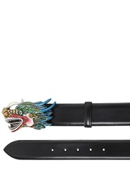 Gucci 40Mm Enameled Dragon Leather Belt