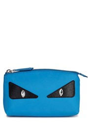 Fendi Monster Bright Blue Cosmetics Case
