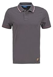 Tom Tailor Fitted Polo Shirt Grey Dark Gray