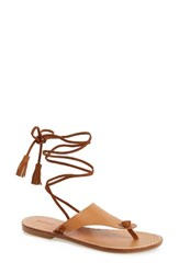 Soludos Women's Wraparound Flat Sandal Vachetta Leather