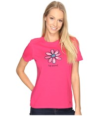 Life Is Good Daisy Crusher Tee Pop Pink Women's T Shirt