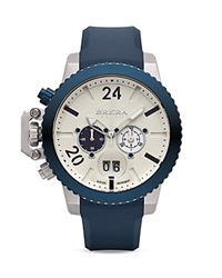 Brera Orologi Militare Navy Blue Ionic Plated Stainless Steel Watch With Navy Blue Rubber Strap 48Mm