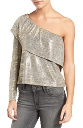 Trouve Women's Metallic One Shoulder Top
