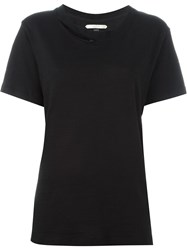 Off White Cut Out T Shirt Black