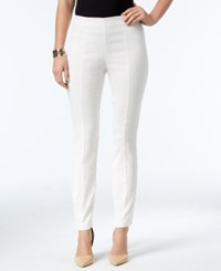 Alfani Jacquard Pull On Skinny Pants Only At Macy's Bright White