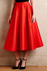 Tracy Reese Crimson Party Skirt Red