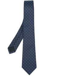 Gucci Gg Pattern Tie Men Silk Cupro One Size Blue