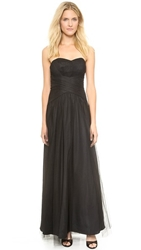 Monique Lhuillier Bridesmaids Strapless Gown With Sweetheart Neckline Black