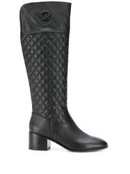 Michael Michael Kors Quilted Monogram Boots Black