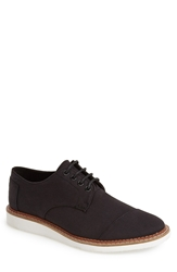 Toms 'Classic Brogue' Cotton Twill Oxford Men Black Twill