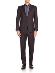 Strellson Travel Glen Check Virgin Wool Suit Navy