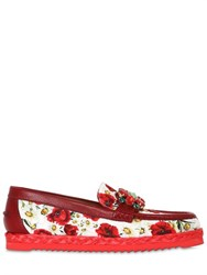 Dolce And Gabbana 10Mm Jeweled Papaveri Brocade Loafers