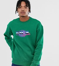 Fila Owlie Graphic Sweat In Green Exclusive At Asos
