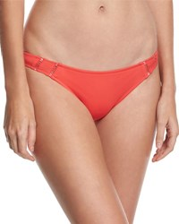 Rhythm My Beach Stitch Inset Swim Bottom Pink