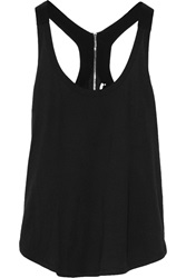 Sandro Silk Trimmed Cotton And Modal Blend Tank