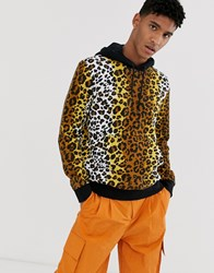 Love Moschino Leopard Print Hoody Brown