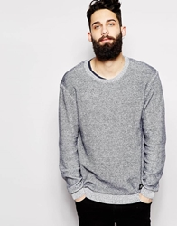 Cheap Monday Crew Knit Jumper Ribbed Melange Lightgreymelange