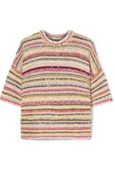 Ganni Brookhaven Striped Knitted Sweater Ivory