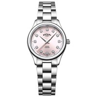 Rotary Lb05092 07 D 'S Oxford Diamond Bracelet Strap Watch Silver