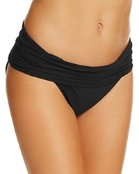 Amoressa Gimlet Fold Over Waist Bikini Bottom Black