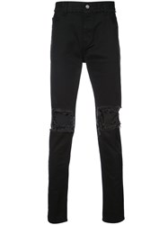 Christian Dada Ripped Effect Jeans Black