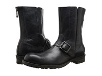 John Varvatos Lincoln Moto Boot Mineral Black Men's Pull On Boots Blue