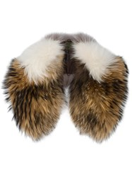 Mr And Mrs Italy Striped Fur Collar Multicolour