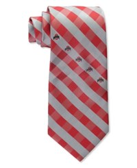 Eagles Wings Ohio State Buckeyes Checked Tie Team Color